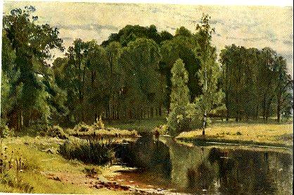 Пейзаж с озером описание шишкин
